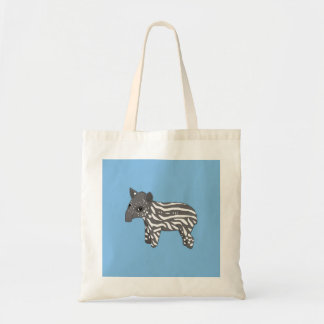 blue baby tapir tote bag