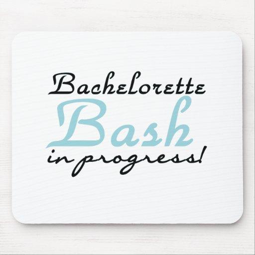 Blue Bachelorette Bash Mouse Pad