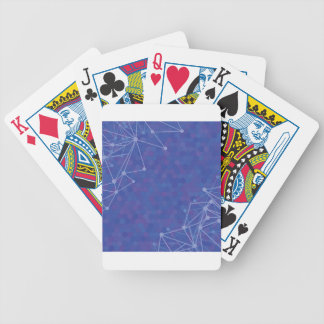 blue  background bicycle playing cards