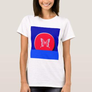 blue background butterflies T-Shirt