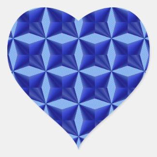 Blue Background Pattern Heart Sticker