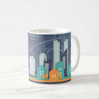 Blue Background Skyscraper Mug