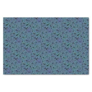 Blue bacteria background tissue paper