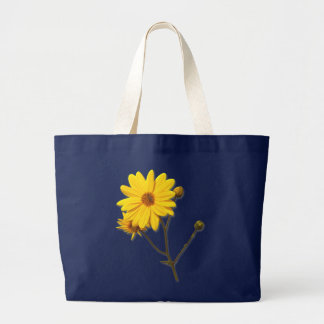 Blue bag with yellow flower