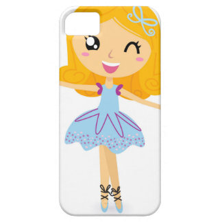 Blue ballerina Princess cute T-Shirts iPhone 5 Case