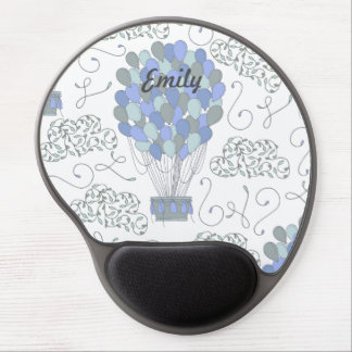 Blue Balloons Gel Mouse Pad