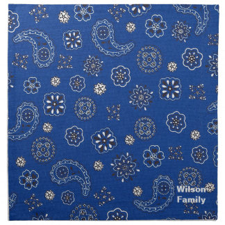 Blue Bandana Napkins