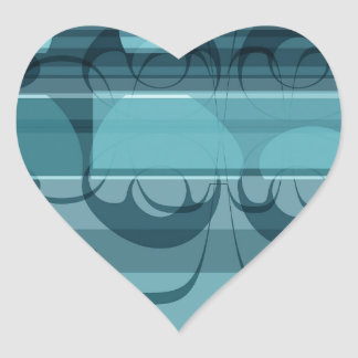 Blue banner heart sticker