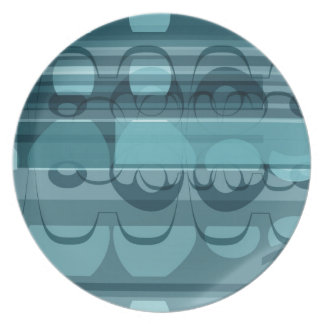 Blue banner party plates