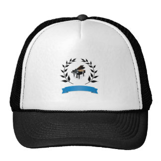 blue banner piano cap