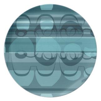 Blue banner plate