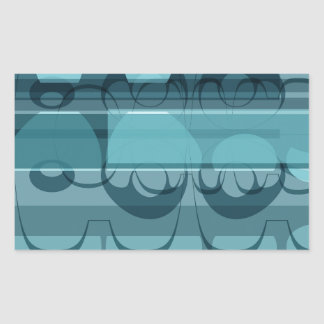 Blue banner rectangular sticker