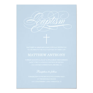 Blue Baptism Invitation | Christening Invitation