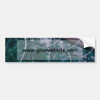 Blue Barb Wire Car Bumper Sticker