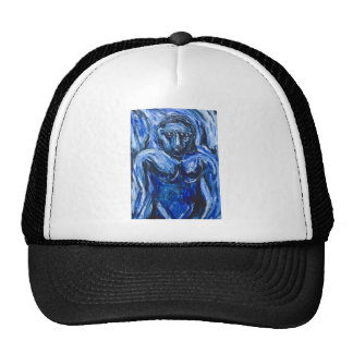 Blue Barbarous Woman(expressionism portrait) Trucker Hats