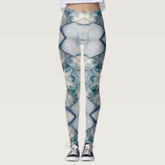 Blue Bark Texture Leggings