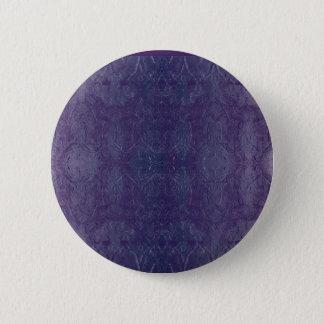 blue baroque 6 cm round badge