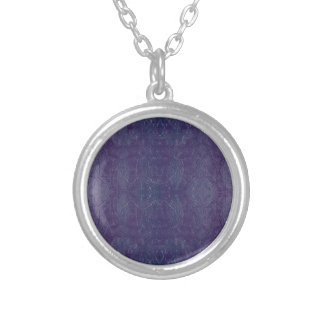 blue baroque silver plated necklace