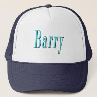 Blue Barry Name  Logo, Trucker Hat