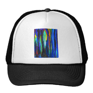 Blue Bars ( abstract expressionism painting) Trucker Hats