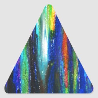 Blue Bars ( abstract expressionism painting) Triangle Stickers
