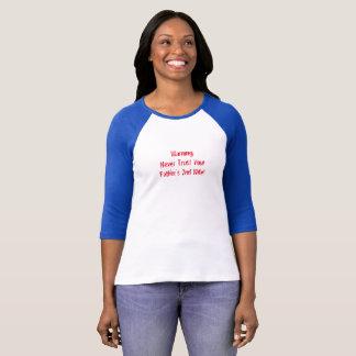Blue baseball cut t-shirt cute