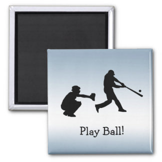 Blue Baseball Play Ball Sports Magnet