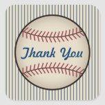 Blue Baseball Thank You Stickers