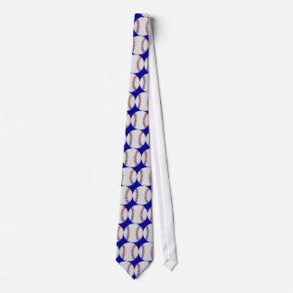 Blue Baseball Tie