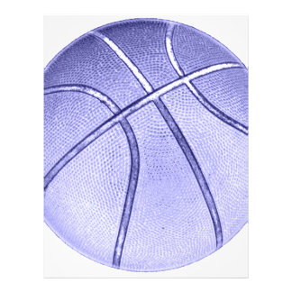 Blue Basketball Full Color Flyer