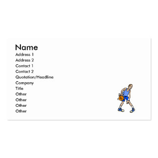 Blue basketball guy pack of standard business cards
