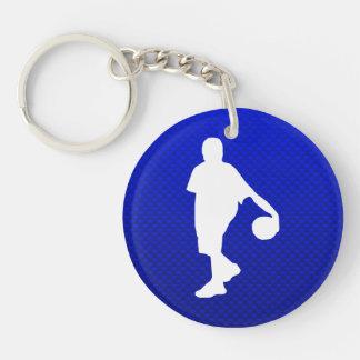 Blue Basketball Acrylic Keychains