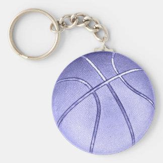 Blue Basketball Keychain