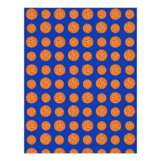 Blue basketball pattern 21.5 cm x 28 cm flyer