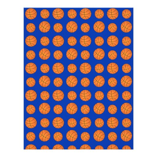 Blue basketball pattern custom flyer