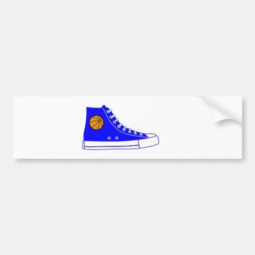 Blue Basketball Sneaker Bumper Stickers