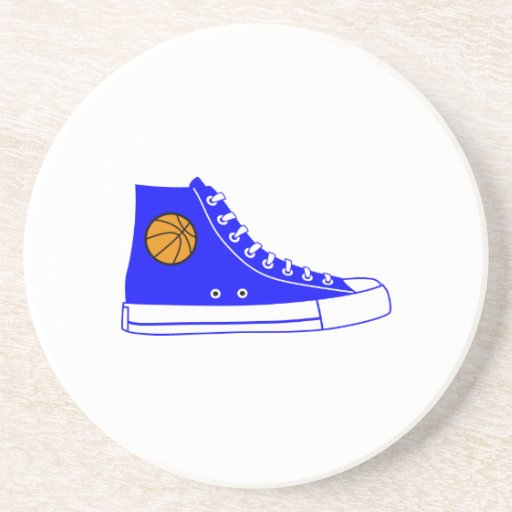 Blue Basketball Sneaker Drink Coaster