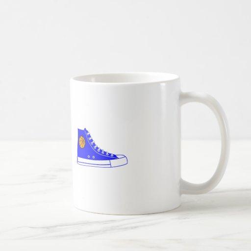 Blue Basketball Sneaker Coffee Mug