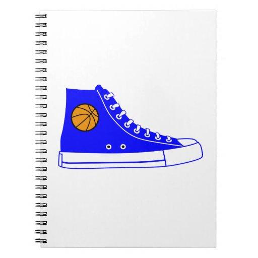 Blue Basketball Sneaker Spiral Notebook