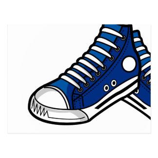 Blue Basketball Sneaker Postcard
