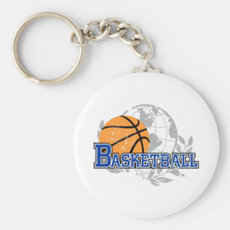Blue Basketball T-shirts and Gifts Keychains