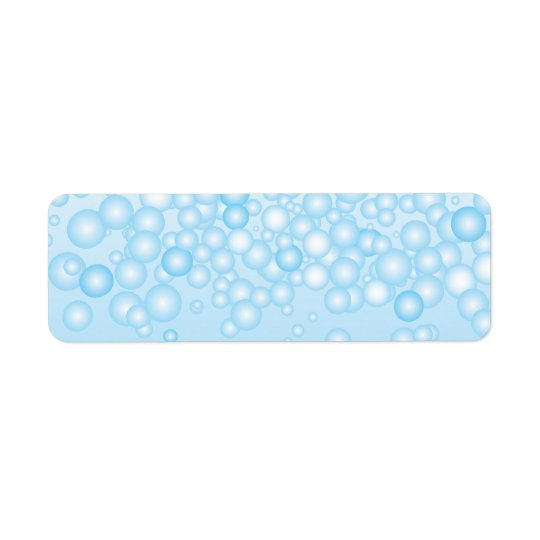 Blue Bath Bubbles Return Address Label