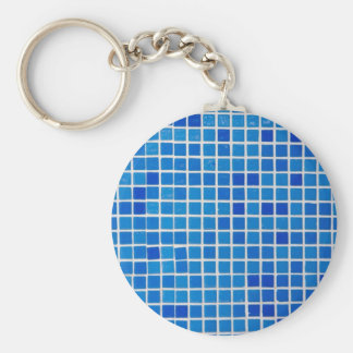 blue bathroom tile key ring