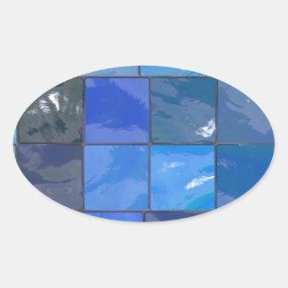 Blue Bathroom Tiles Design Stickers