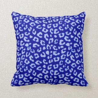 Blue Batik Leopard - pillow