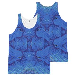 Blue Batik: Men's: choose size All-Over Print Tank Top