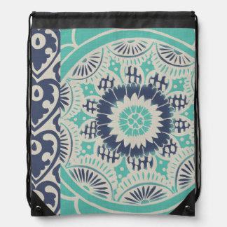 Blue Batik Tile III Rucksack