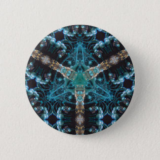 Blue Baubles 6 Cm Round Badge