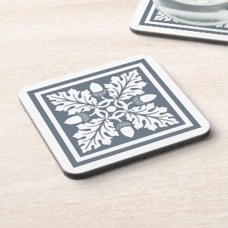 Blue Bayoux Acorn and Leaf Tile Design Coaster