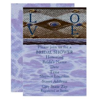 Blue Bayview Love Bridal Shower Card